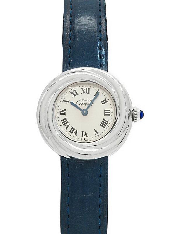 【Cartier】【アルジャン】【電池交換済】カルティエ『マスト トリニティ』レディース クォーツ 1ヶ月保証【中古】
