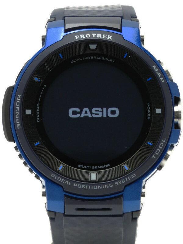 【CASIO】カシオ『スマート アウトドアウォッチ プロトレックブルー』WSD-F30-BU メンズ ウェアラブル端末 1週間保証【中古】