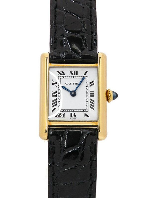 【Cartier】【YGケース】【OH済】カルティエ『タンク SM』レディース 手巻き 6ヶ月保証【中古】