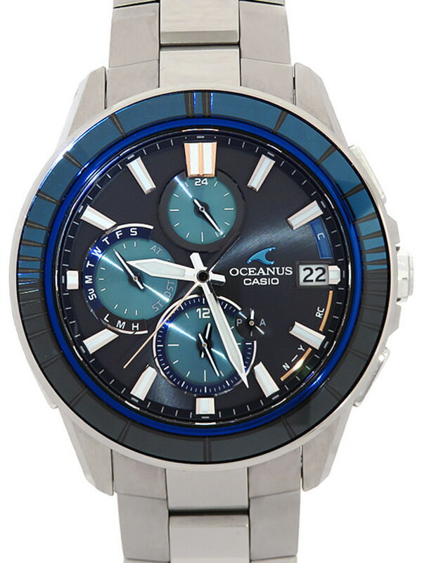 【CASIO】【OCEANUS】【'19年購入】【世界限定3000本】【スマートフォンリンク】カシオ『オシアナス マンタ』OCW-S4000D-1AJF メンズ  3ヶ月保証【中古】