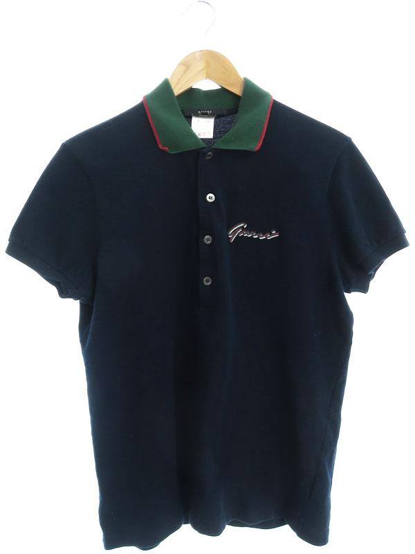 【GUCCI】【シェリーライン】【イタリア製】【トップス】グッチ『半袖ポロシャツ sizeXL』175732.Z1794 メンズ 1週間保証【中古】