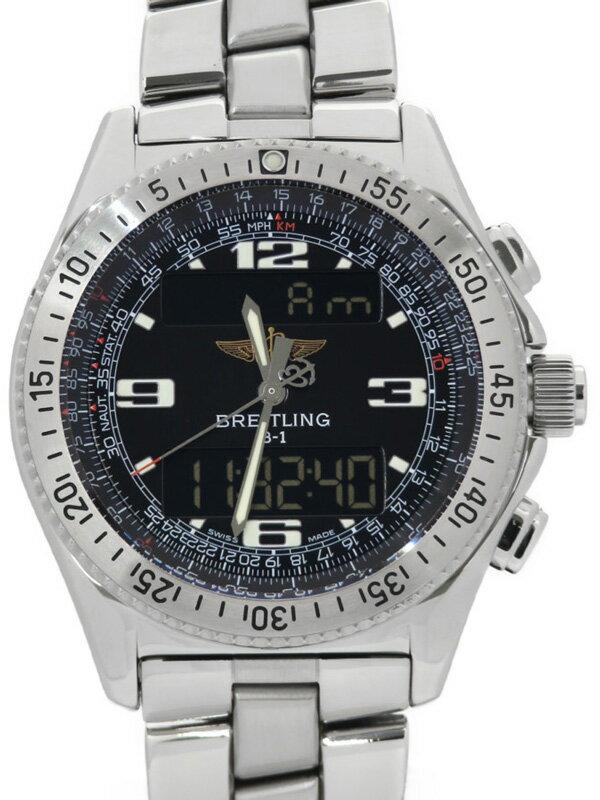 【BREITLING】【電池交換・仕上済】ブライトリング『B-1 デジアナ』A68362 メンズ クォーツ 3ヶ月保証【中古】