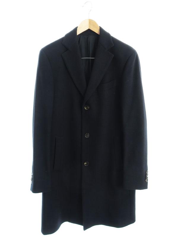 【Salvatore Ferragamo】【イタリア製】【アウター】フェラガモ『カシミヤ チェスターコート size50』メンズ 1週間保証【中古】