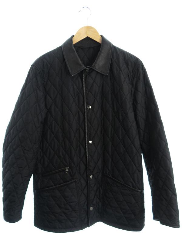 【Salvatore Ferragamo】【イタリア製】【アウター】フェラガモ『中綿キルティングジャケット size50』メンズ 1週間保証【中古】