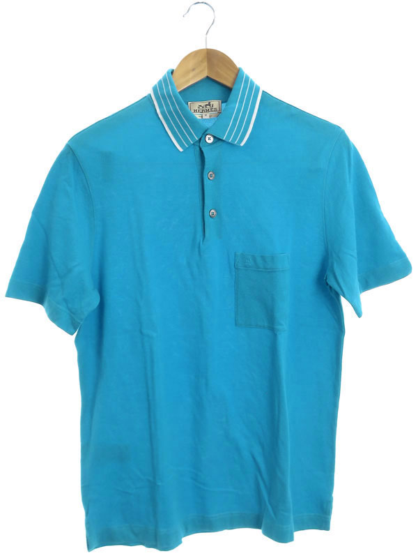 【HERMES】【イタリア製】【トップス】エルメス『半袖ポロシャツ sizeM』メンズ 1週間保証【中古】
