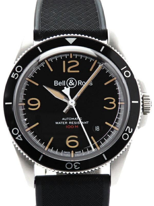 【Bell&Ross】【裏スケ】ベルアンドロス『BRV2-92 スティールヘリテージ』BRV292-HER-ST/SST メンズ 自動巻き 3ヶ月保証【中古】