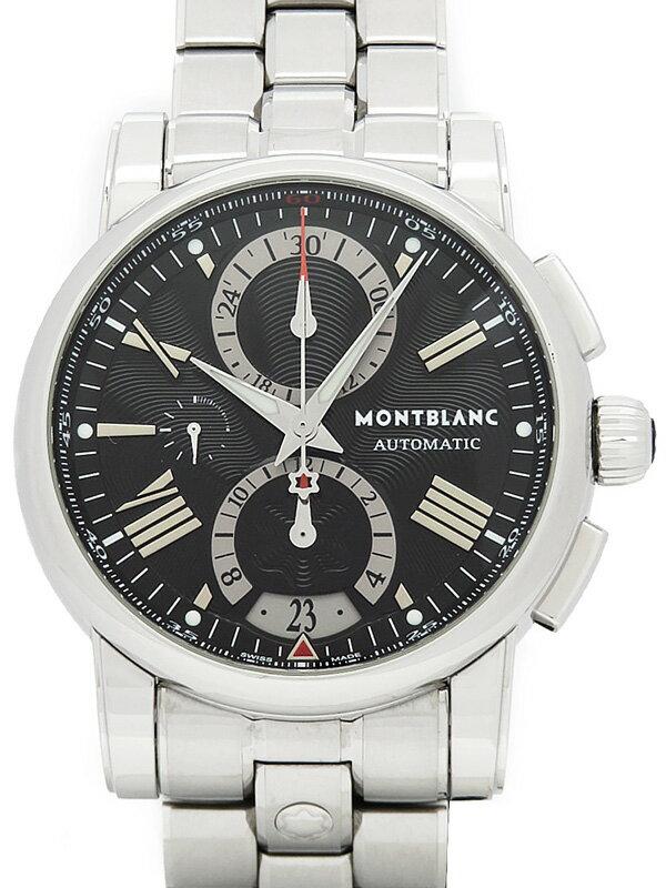 【MONTBLANC】【裏スケ】モンブラン『モンブランスター 4810 クロノグラフ』102376 メンズ 自動巻き 3ヶ月保証【中古】