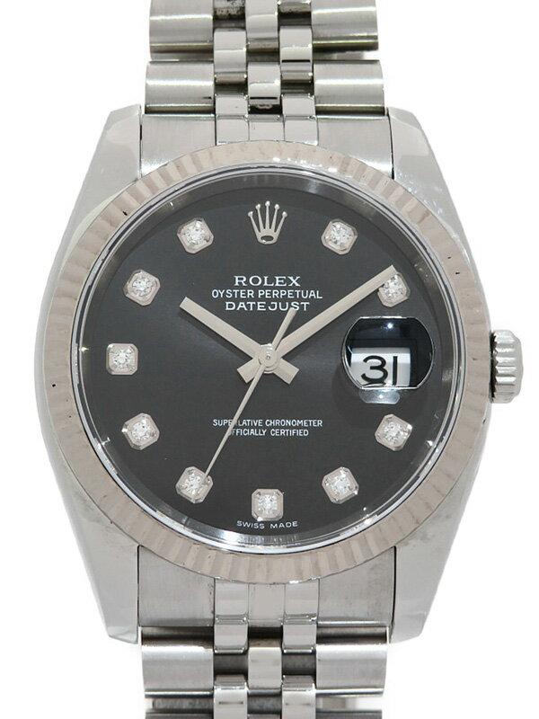 【ROLEX】【仕上済】ロレックス『デイトジャスト 10Pダイヤ』116234G D番'05年頃製 メンズ 自動巻き 12ヶ月保証【中古】