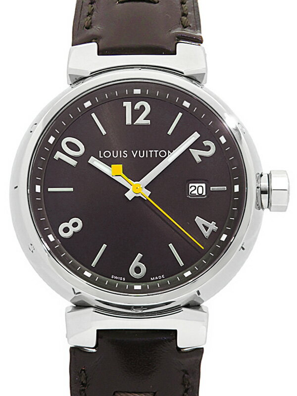 【LOUIS VUITTON】【電池交換・仕上済】ルイヴィトン『タンブールGM』Q1111 メンズ クォーツ 1ヶ月保証【中古】