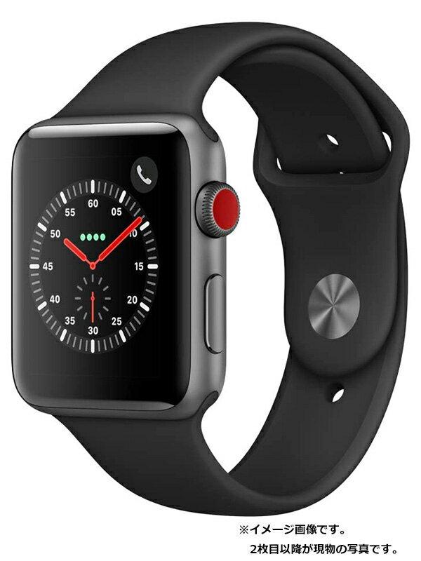 【Apple】【アップルウォッチ シリーズ3】アップル『Apple Watch Series 3 GPS+Cellularモデル 42mm』MTH22J/A メンズ スマートウォッチ 1週間保証【中古】