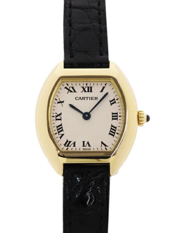 【Cartier】【電池交換・仕上済】【YG】カルティエ『ミニトーチュ』レディース クォーツ 3ヶ月保証【中古】