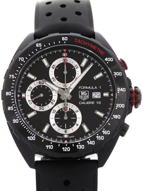 【TAG Heuer】タグホイヤー『フォーミュラー1 クロノグラフ フルブラック』CAZ2011.FT8024 メンズ 自動巻き 3ヶ月保証【中古】