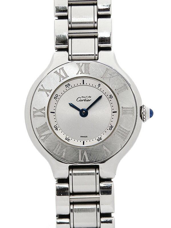 【Cartier】【電池交換済】カルティエ『マスト21 ヴァンティアン』W10109T2 レディース クォーツ 1ヶ月保証【中古】