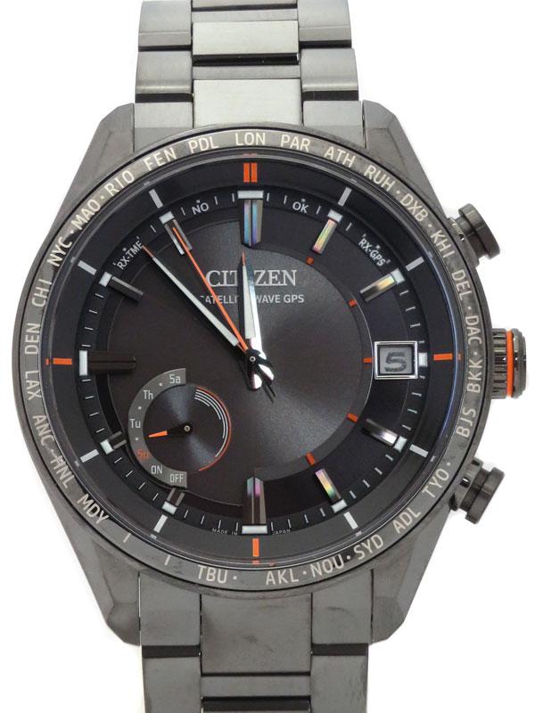 【CITIZEN】【'20年購入】シチズン『アテッサ』CC3085-51E メンズ ソーラー電波GPS 1ヶ月保証【中古】