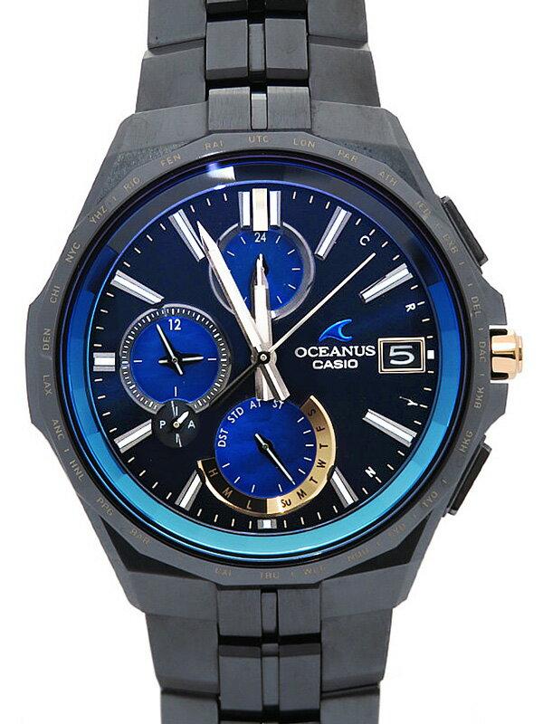 【CASIO】【OCEANUS】【世界限定200本】カシオ『オシアナス マンタ オシアナス15周年記念モデル』OCW-S5000S-2AJR メンズ ソーラー電波 3ヶ月保証【中古】