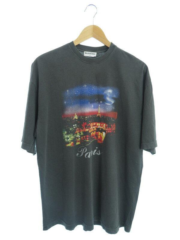 【BALENCIAGA】【Paris Tee Shirt】【トップス】バレンシアガ『半袖Tシャツ sizeXS』482382 TUK18 17AW メンズ カットソー 1週間保証【中古】