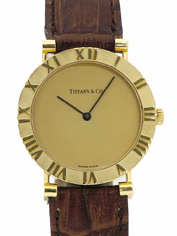 【TIFFANY&Co.】【YGケース】【電池交換済】ティファニー『アトラス』メンズ クォーツ 1ヶ月保証【中古】