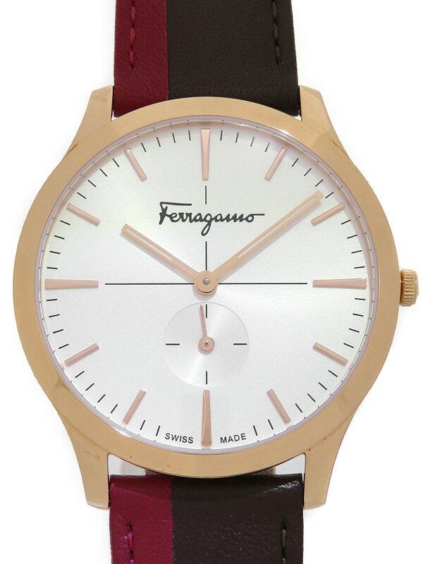 【Salvatore Ferragamo】フェラガモ『スリム スモセコ』SFDE00618 メンズ クォーツ 1週間保証【中古】