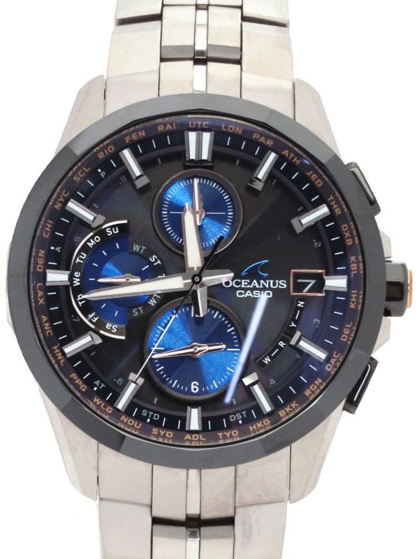 【CASIO】【OCEANUS】【限定1000本】カシオ『オシアナスマンタ』OCW-S3001C-1AJF メンズ ソーラークォーツ 1ヶ月保証【中古】