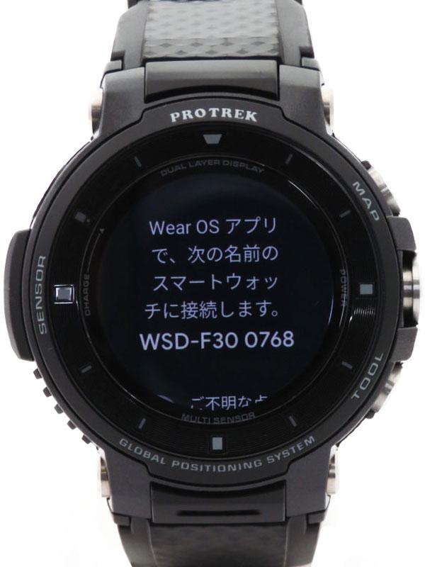 【CASIO】カシオ『スマート アウトドアウォッチ プロトレック』WSD-F30-BK メンズ ウェアラブル端末 1週間保証【中古】