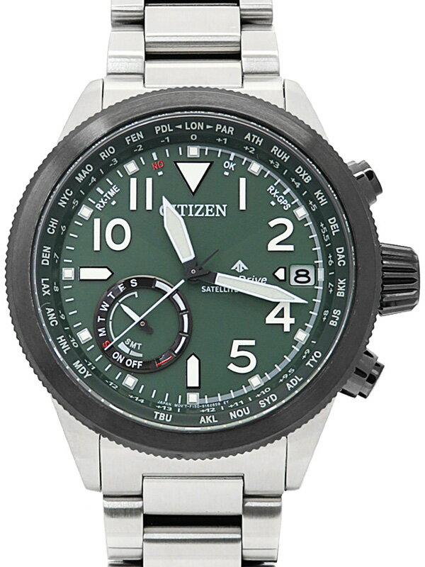【CITIZEN】【'21年購入】シチズン『プロマスター LANDシリーズ』CC3067-70W メンズ ソーラー電波GPS 1週間保証【中古】