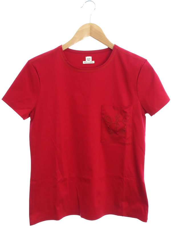 【HERMES】【フランス製】【トップス】エルメス『半袖Tシャツ size36』レディース カットソー 1週間保証【中古】