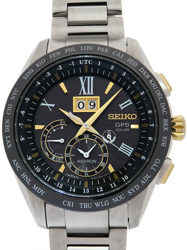 【SEIKO】セイコー『アストロン 8Xシリーズ ビッグデイト』SBXB139 8X42-0AB0 79****番 メンズ ソーラー電波GPS 1ヶ月保証【中古】