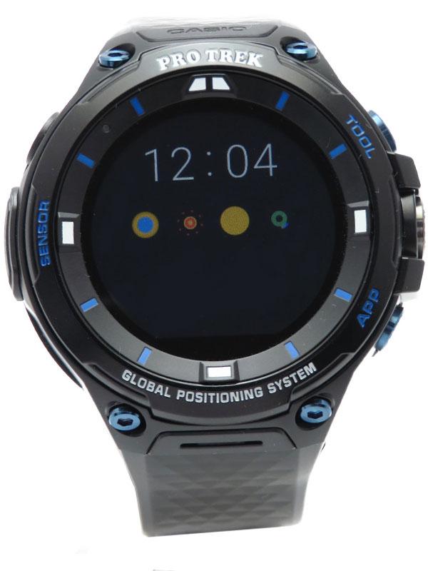 【CASIO】カシオ『GPSスマートアウトドアウォッチ プロトレック』WSD-F20S-BK メンズ スマートウォッチ 1週間保証【中古】