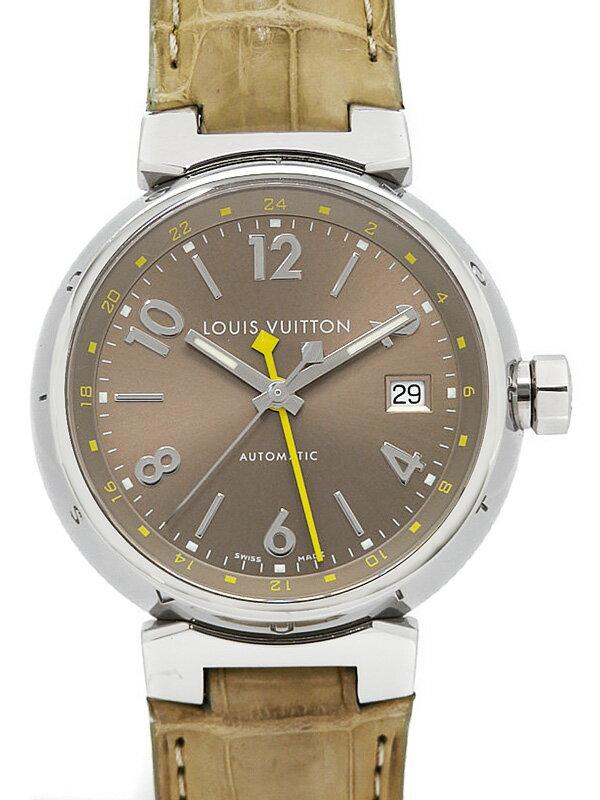 【LOUIS VUITTON】【OH済】ルイヴィトン『タンブール GMT』Q1132 メンズ 自動巻き 3ヶ月保証【中古】