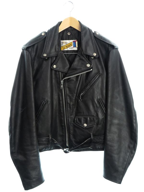 【Schott N.Y.C.】【アメリカ製】【アウター】ショット『レザーライダースジャケット size40』618 メンズ 革ジャン 1週間保証【中古】