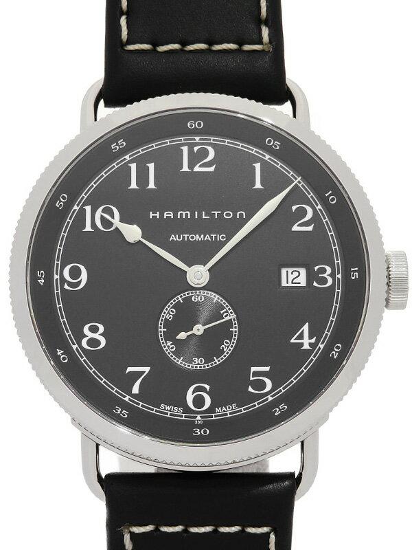 【HAMILTON】【裏スケ】ハミルトン『カーキネイビー パイオニア』H78415733 メンズ 自動巻き 1ヶ月保証【中古】