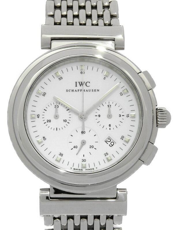 【IWC】【電池交換・仕上済】インターナショナルウォッチカンパニー『ダヴィンチ SL クロノグラフ』IW372802 メンズ クォーツ 3ヶ月保証【中古】