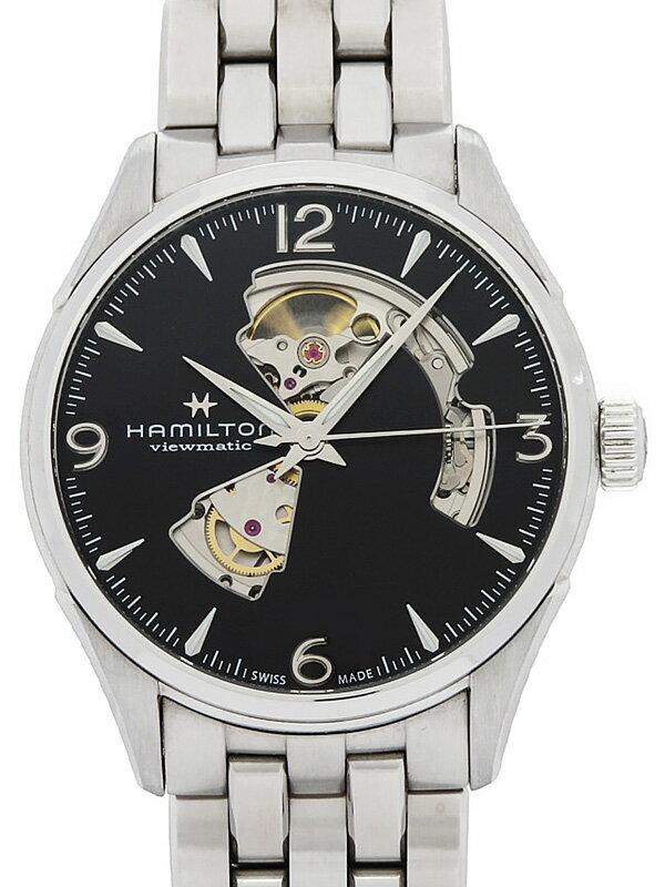 【HAMILTON】【裏スケ】ハミルトン『ジャズマスター ビューマチック オープンハート』H32705131 メンズ 自動巻き 1ヶ月保証【中古】