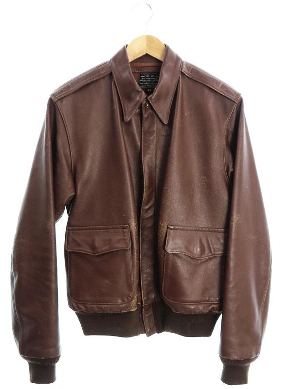 【Pherrow's】【C.C.MASTERS】【アウター】フェローズ『A-2 レザージャケット size44』メンズ 革ジャン 1週間保証【中古】