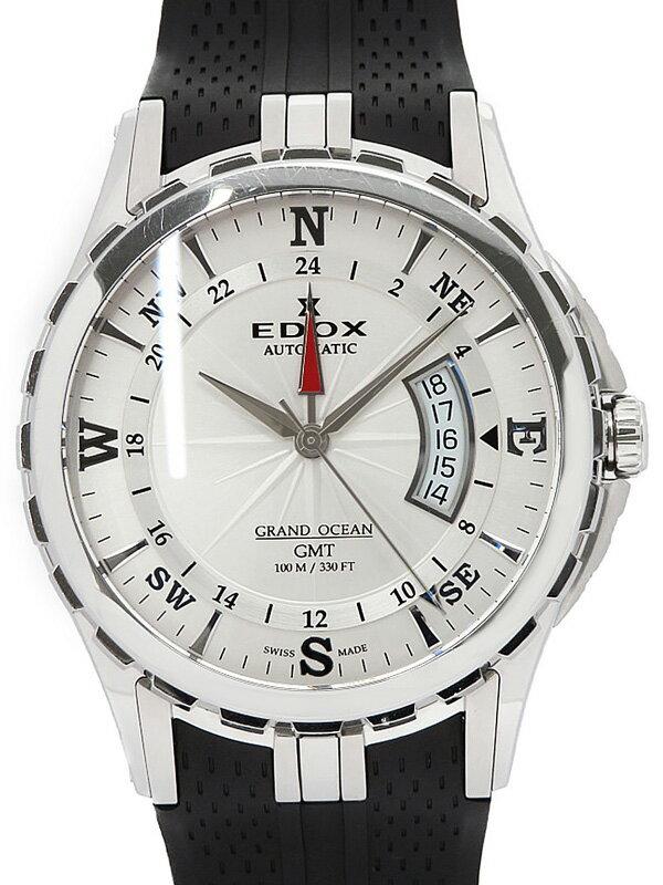 【EDOX】【裏スケ】エドックス『グランドオーシャン GMT』93004-3-AIN メンズ 自動巻き 1ヶ月保証【中古】