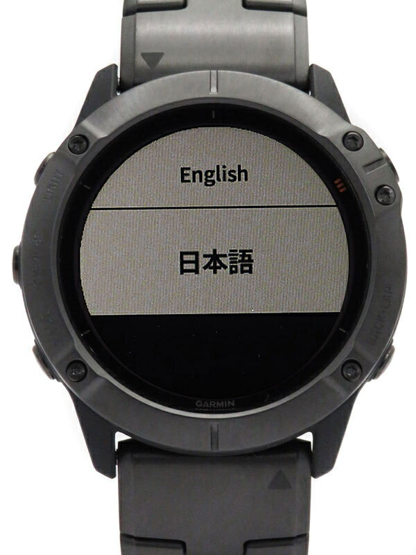 【GARMIN】ガーミン『fenix 6X Pro Dual Power』010-02157-5D メンズ ウェアラブル端末 1週間保証【中古】