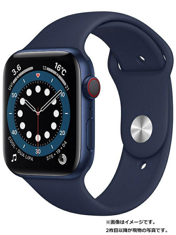 【Apple】【アップルウォッチ シリーズ6】アップル『Apple Watch Series 6 GPS+Cellularモデル 44mm』M09A3J/A メンズ スマートウォッチ 1週間保証【中古】