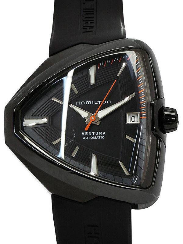 【HAMILTON】【裏スケ】ハミルトン『ベンチュラ エルヴィス80』H24585331 メンズ 自動巻き 1ヶ月保証【中古】