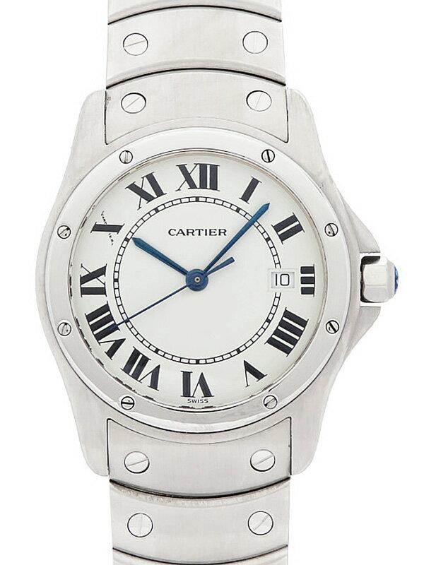 【Cartier】【電池交換済】カルティエ『サントス クーガー MM』W20027K1 ボーイズ クォーツ 1ヶ月保証【中古】