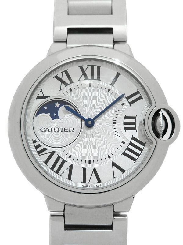 【Cartier】【仕上済】【ムーンフェイズ】カルティエ『バロンブルー ドゥ カルティエ』WSBB0021 メンズ 自動巻き 6ヶ月保証【中古】