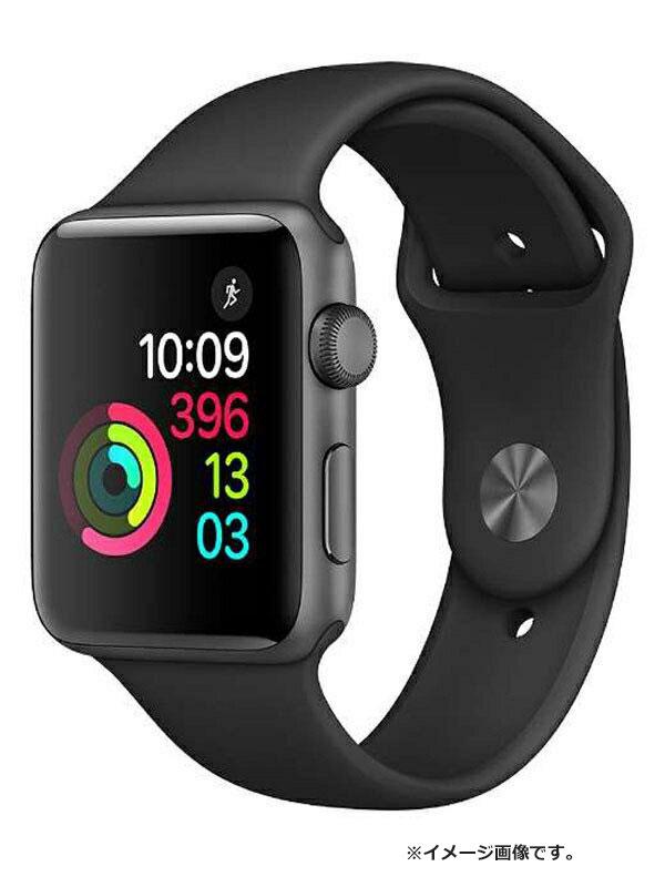 【Apple】【アップルウォッチ シリーズ2】【未開封】アップル『Apple Watch Series2 42mm ブラックスポーツバンド』MP0G2J/A メンズ スマートウォッチ【中古】