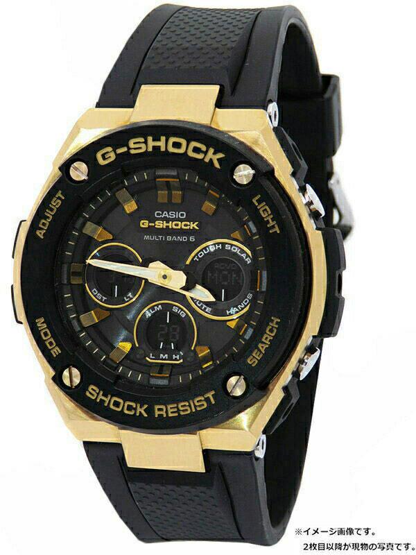 【CASIO】【G-SHOCK】【'20年購入】カシオ『Gショック Gスチール』GST-W300G-1A9JF メンズ ソーラー電波クォーツ 1週間保証【中古】