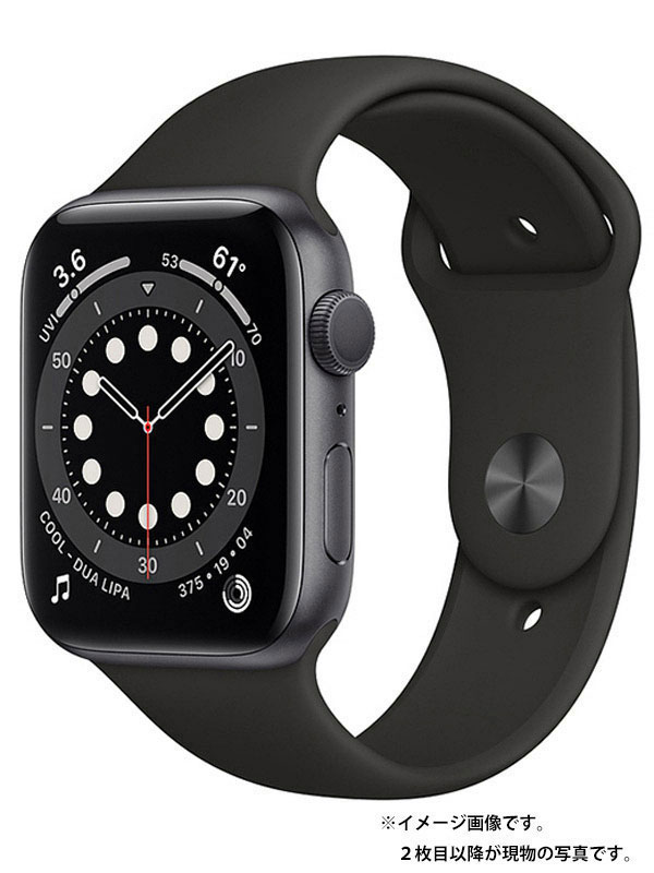 【Apple】【アップルウォッチ シリーズ6】アップル『Apple Watch Series 6 GPSモデル 44mm』M00H3J/A メンズ スマートウォッチ 1週間保証【中古】