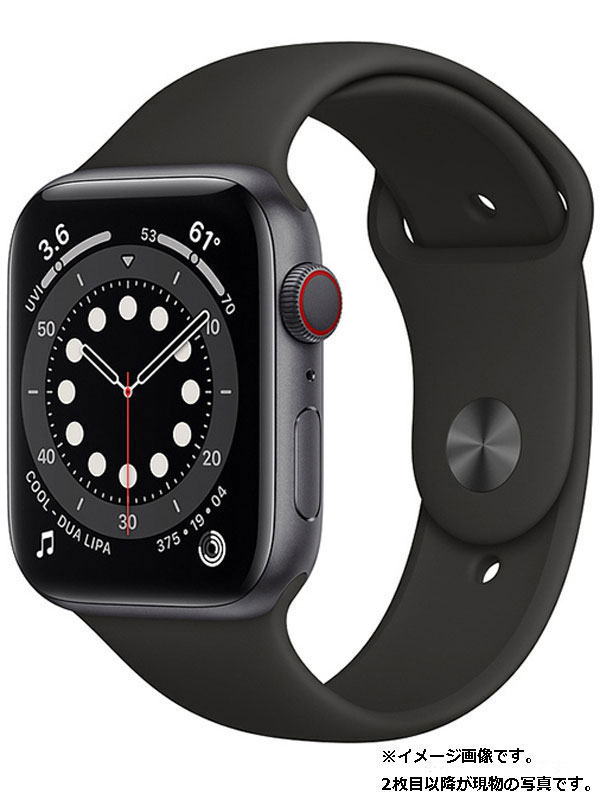 【Apple】【アップルウォッチ シリーズ6】アップル『Apple Watch Series6 GPS+Cellularモデル 44mm』MG2E3J/A メンズ スマートウォッチ 1週間保証【中古】