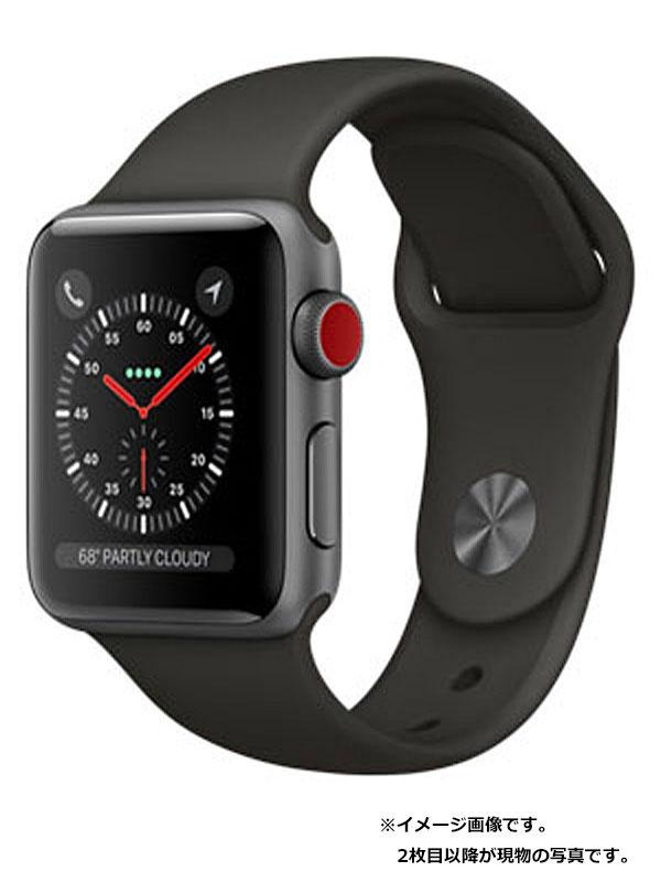 【Apple】【アップルウォッチシリーズ3】アップル『Apple Watch Series 3 38mm GPS+Cellularモデル』MQKG2J/A ボーイズ スマートウォッチ 1週間保証【中古】