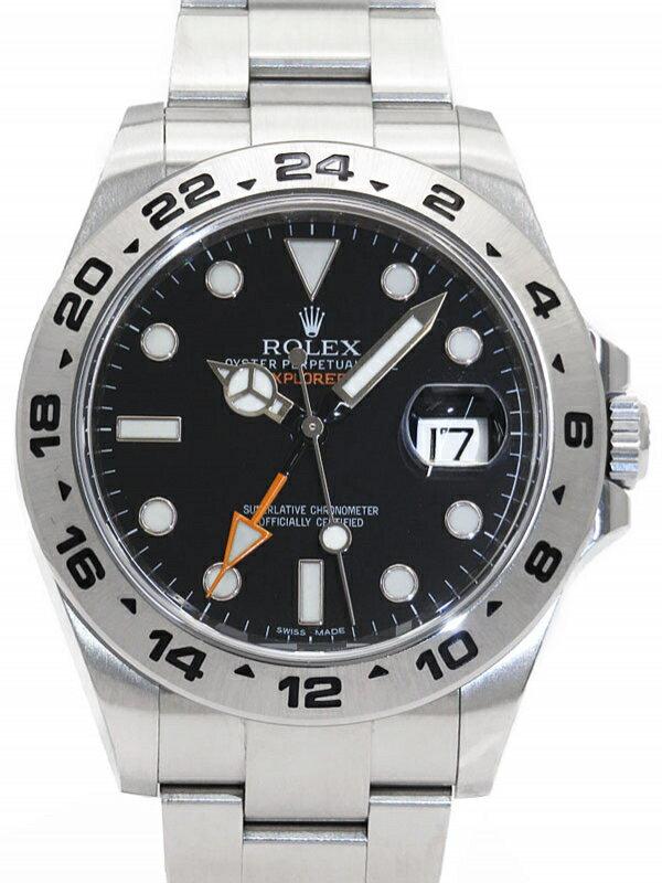 【ROLEX】【'15年購入】ロレックス『エクスプローラー2』216570 ランダム番 メンズ 自動巻き 12ヶ月保証【中古】