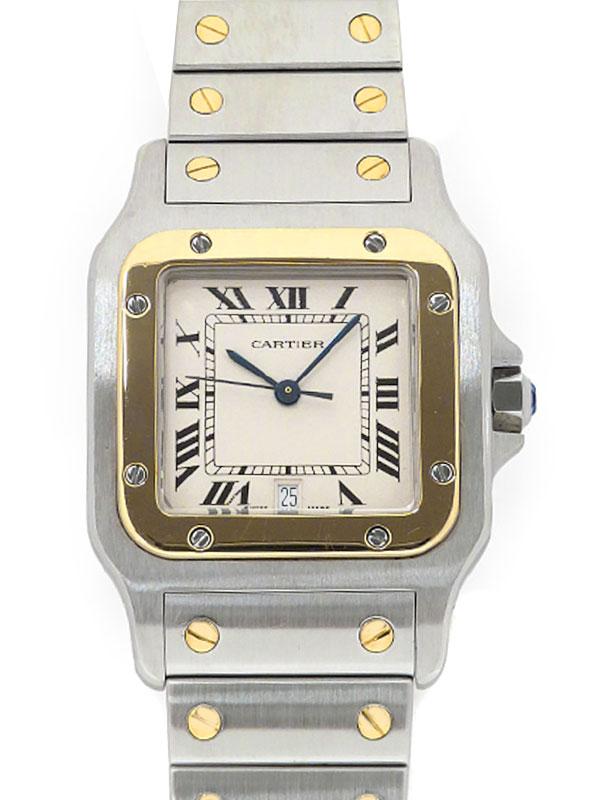 【Cartier】【OH・仕上・電池交換済】カルティエ『サントスガルベLM』W20011C4 メンズ クォーツ 3ヶ月保証【中古】
