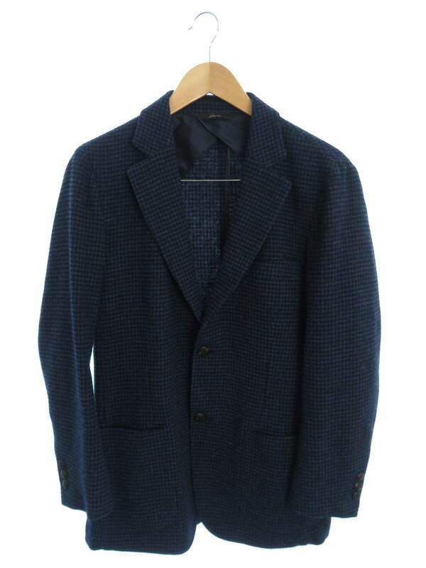 【Brioni】【千鳥格子】【イタリア製】ブリオーニ『テーラードジャケット sizeXS』5564 191122/53/18 メンズ 1週間保証【中古】