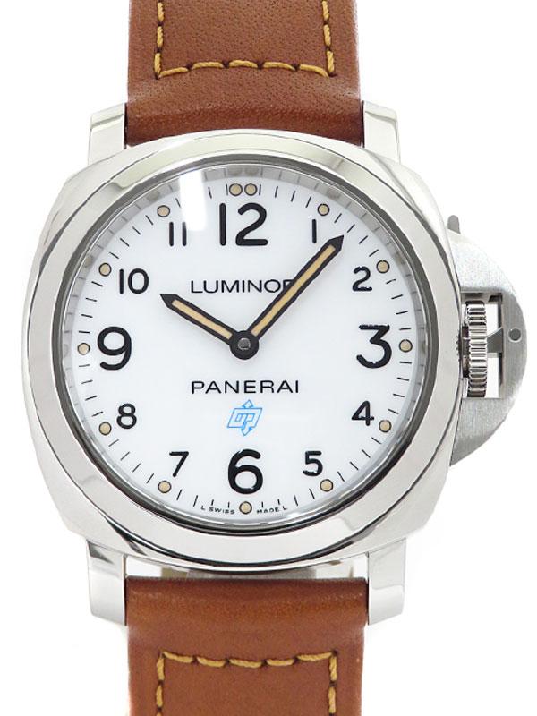 【PANERAI】【仕上済】パネライ『ルミノール ベース ロゴ アッチャイオ 44mm』PAM00775 U番'18年製 メンズ 手巻き 6ヶ月保証【中古】