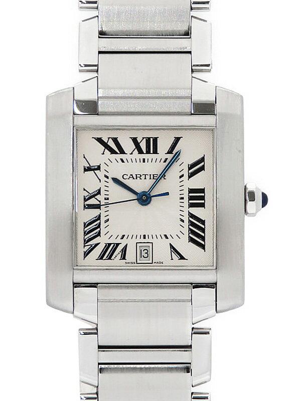 【Cartier】【OH・仕上済】カルティエ『タンクフランセーズLM』W51002Q3 メンズ 自動巻き 3ヶ月保証【中古】